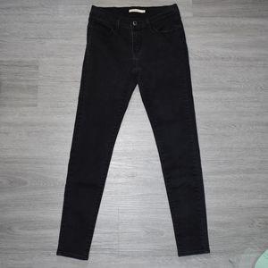 LEVI'S 710 Black Skinny Jeans